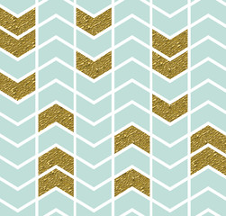Geometric pattern with gold detail