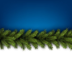 Card with fir branches.