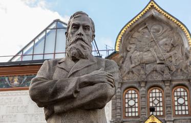 Tretyakov monument near State Tretyakov's Gallery