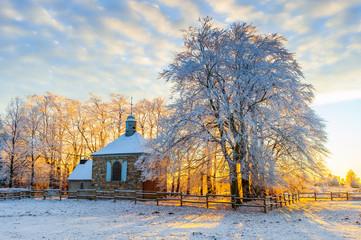 Hohes Venn Kapelle Fischbach bei Baraque Michel (Belgien)