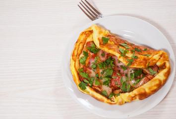 Bacon omelet