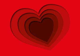 Coeur-papier decoupe