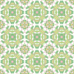 Italian traditional ornament, Mediterranean seamless pattern, tile design, vector illustration