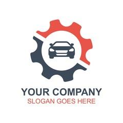 Automotive Car Racing Icon Vector Logo
