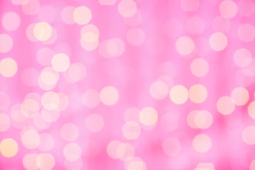 Fotobehang - pink blurred background with bokeh lights