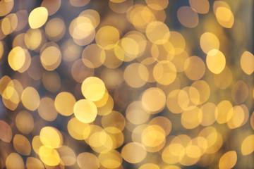 Fotobehang - blurred golden lights bokeh