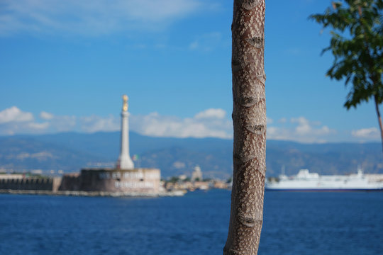madonna of messina in the background