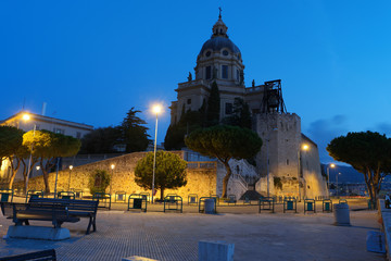 church of messina during sunrise