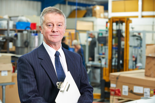 Portrait Of Manager On Factory Floor