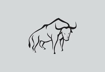 Black Bull logo vector