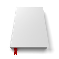 Blank book with a bookmark