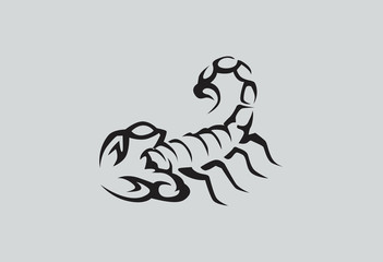 Scorpion logo vector illustration