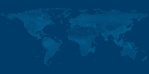 map of the world on dark blue  background vector