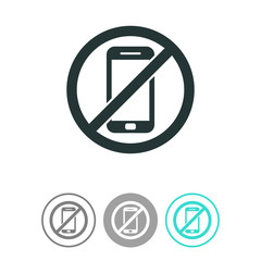 No phone vector icon.