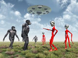 Aliens entdecken auf der Erde den Homo Habilis