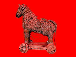Warnsymbol für das Computerprogramm Trojanisches Pferd