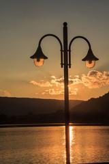 Lampione sul lago di Vico