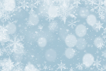 Winter background , snow, snowflakes