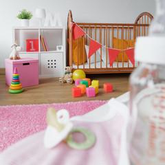 Cosy space for newborn child