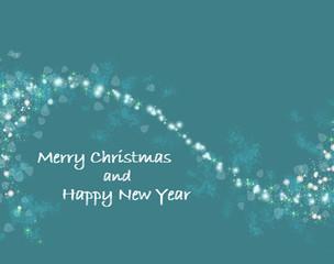 dark blue Christmas card with shiny stars