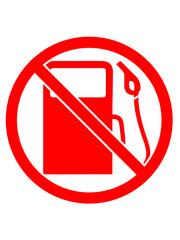 zapfsäule not refuel forbidden no no shield logo