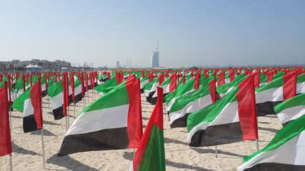 Flag day dubai beach