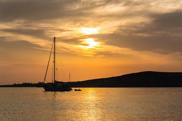 Beach of Livadia in Paroikia at sunset - Paros - Greece