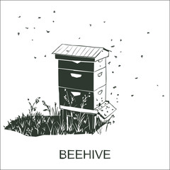 Beehive vector isolated