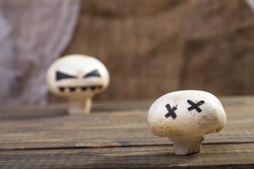 Halloween mushroom ghost