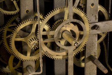 Gears of a clock