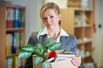 Redundant Businesswoman In Office