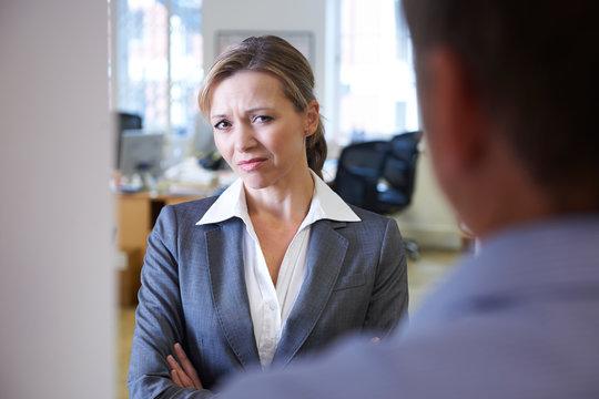 Businessman Harassing Female Colleague
