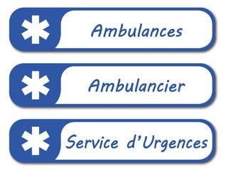 Panneau ambulances.