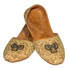 Arab National Shoes  female slippers decorated with ornaments ha