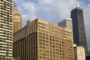 Fototapete - Chicago - buildings along Gold Coast