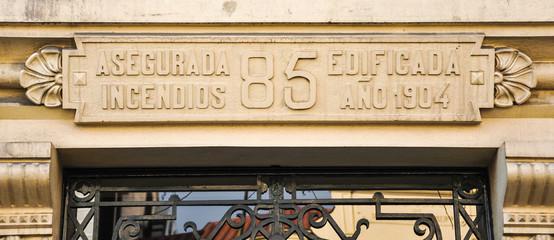 Cartel de época, asegurada en incendios, Madrid