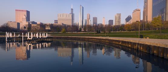 Fotomurales - Morning panorama of Chicago