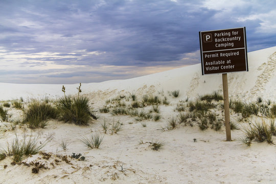 White sands National Monument before storm