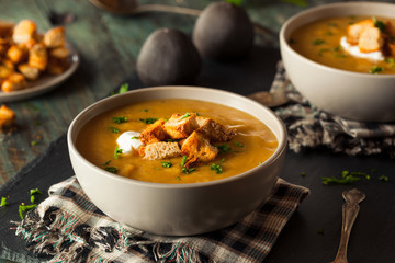 Homemade Hot Butternut Squash Soup