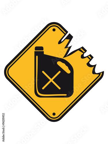 poison design tank canister reserve tank warning danger danger