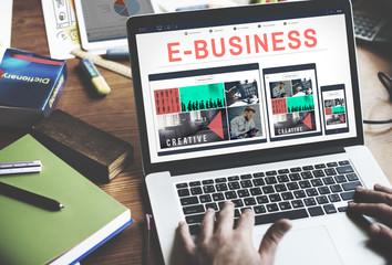 Wall Mural - E-business E-commrce Business Responsive Design Concept