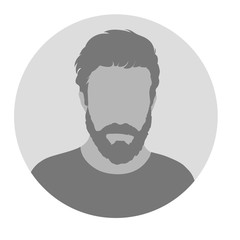 Male Profile Picture Placeholder. Vector illustration. Design so