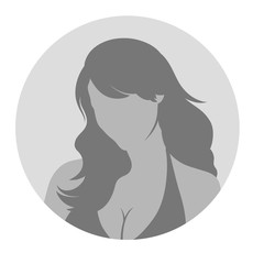 Female Profile Picture Placeholder. Vector illustration. Design
