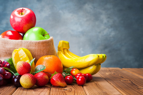 たくさんのフルーツ