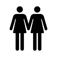 Gay marriage lesbian flat icon for apps and websites