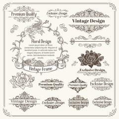 Vintage Vector Design Elements Collection.