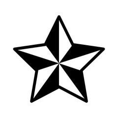 3D star decoration flat icon for apps and websites