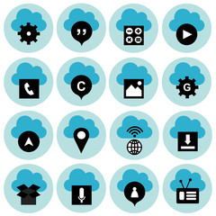 Business and modern technology vector icon set