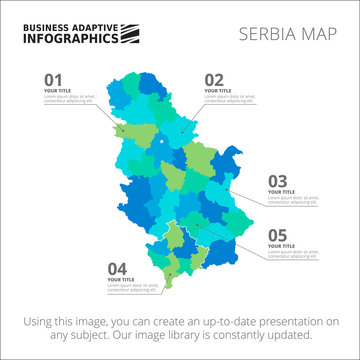 Serbia map template 2