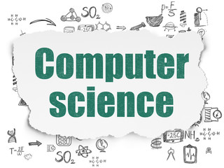 Science concept: Computer Science on Torn Paper background